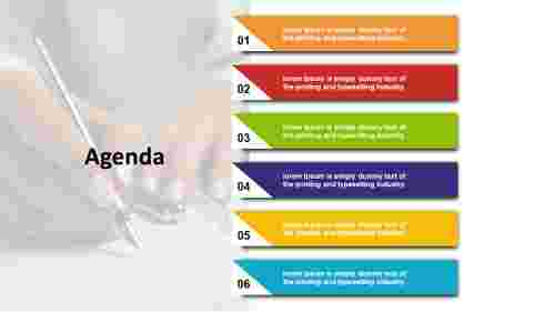 agenda ppt design - rectangle model