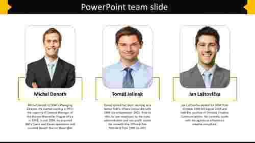 Effective powerpoint team slide