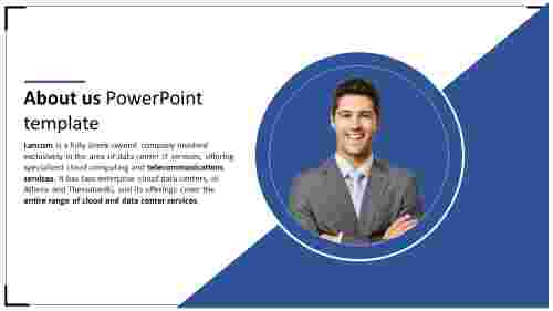about us powerpoint template - circle model