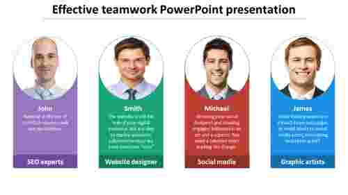 effective teamwork powerpoint presentation for corporate company
