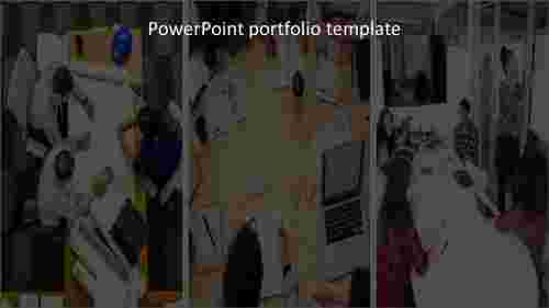 Project powerpoint portfolio template