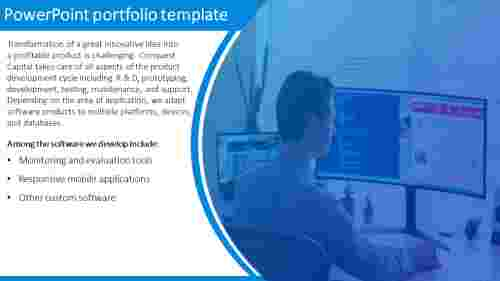 Software development powerpoint portfolio template