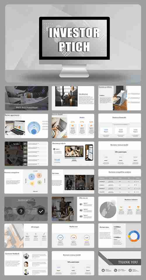 business pitch PPT presentation template