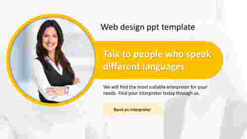 A one noded web design PPT template