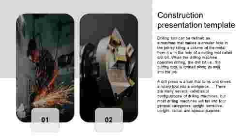 A one noded construction presentation template