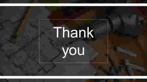 slide thank you powerpoint with amazing background image