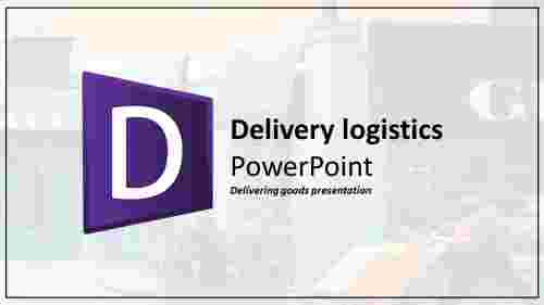 A one noded logistics powerpoint template