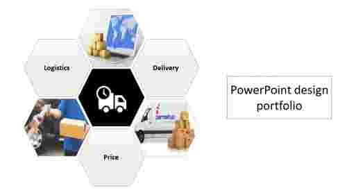 A one noded powerpoint design portfolio