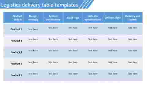A six noded table templates for powerpoint