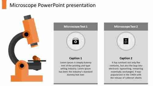 AtwonodedMicroscopePowerPointtemplate