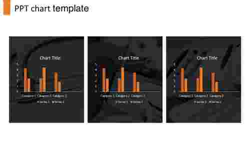 A three noded PPT chart template