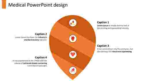 A four noded medical powerpoint design