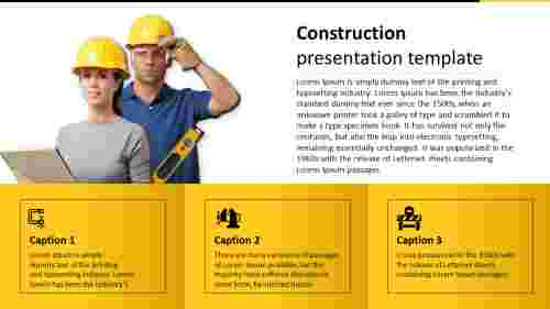 A three noded construction presentation template