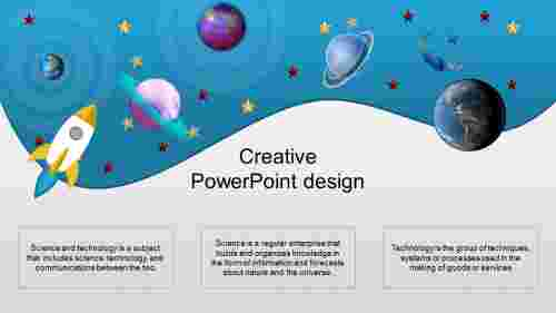 A three noded creative powerpoint design