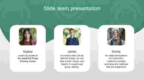 A three noded slide team presentation