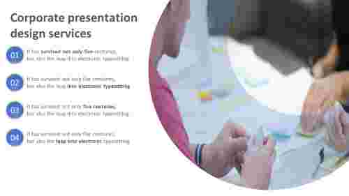 A four noded corporate presentation design services