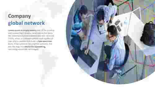 A one noded Global network powerpoint template