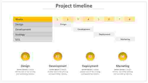 A four noded project timeline powerpoint