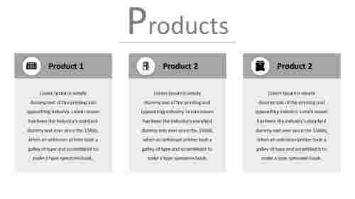 A three noded product PPT template