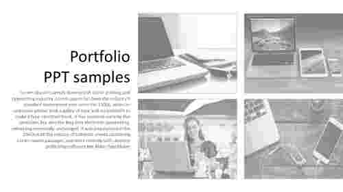 A one noded portfolio PPT samples