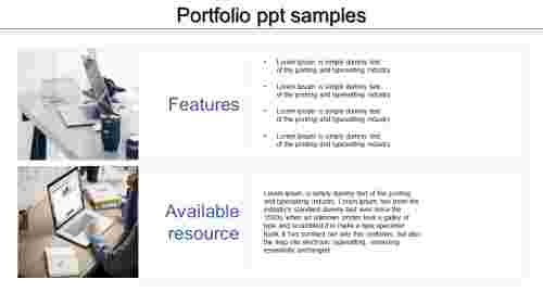 A two noded portfolio PPT samples