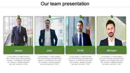 A four noded slide team presentation