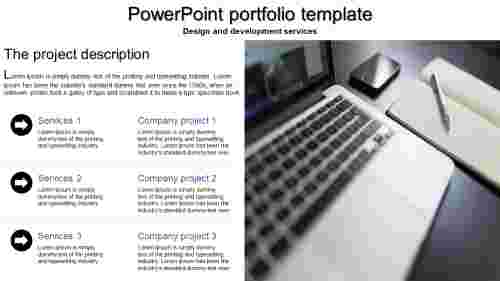 A six noded powerpoint portfolio template