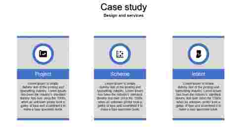 A three noded case study powerpoint template