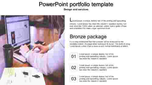 A one noded powerpoint portfolio template