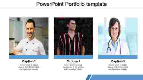 A three noded powerpoint portfolio template