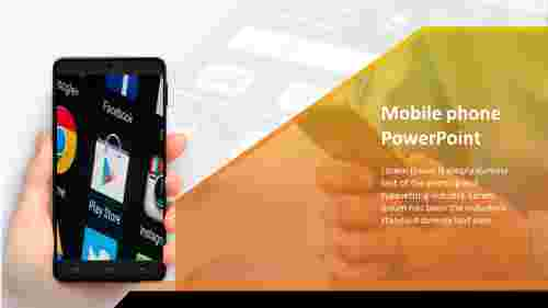 A one noded mobile phone powerpoint template
