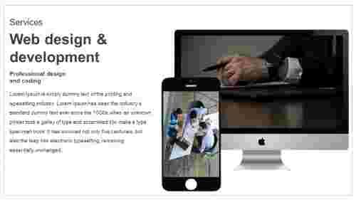 Professional web design PPT template