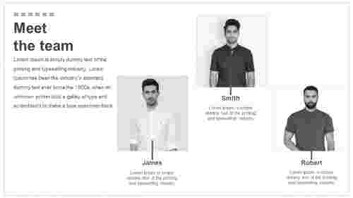 Fashion powerpoint team slide