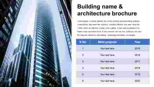 building presentation - Table model