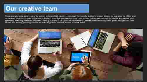 powerpoint team slide - Picture model