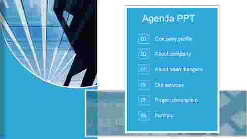agenda PPT design template