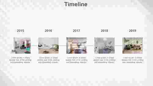 timeline powerpoint design for furniture model