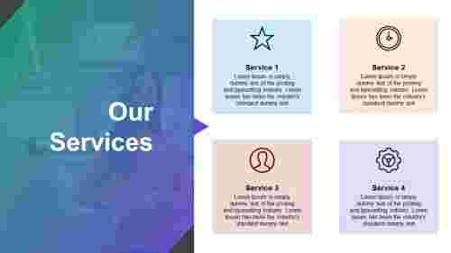 Best our services ppt template