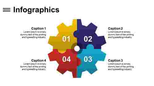 Attractive sample infographics powerpoint