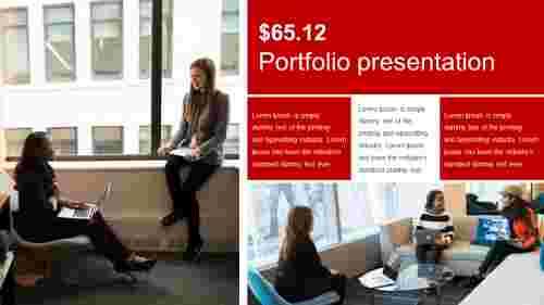 Usable portfolio presentation template