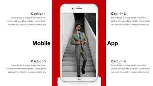 mobile app powerpoint presentation slide
