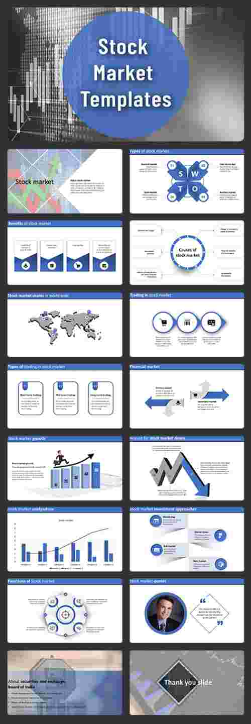 stock market powerpoint template slides