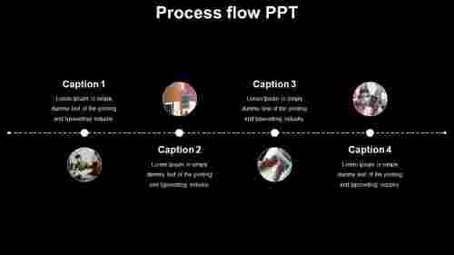 process flow PPT template - zigzag model