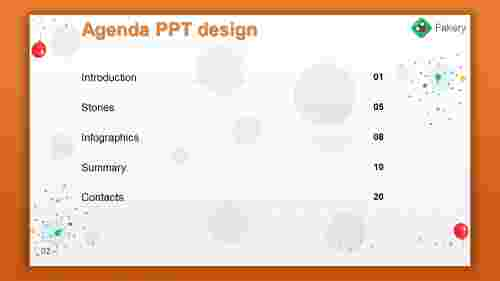 agenda PPT design with background