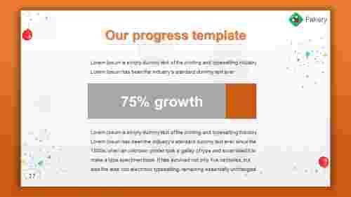 Achieve powerpoint progress template
