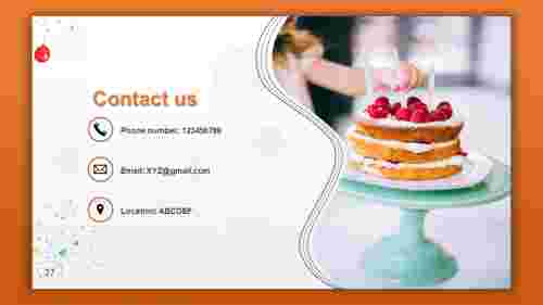 contact us ppt template model