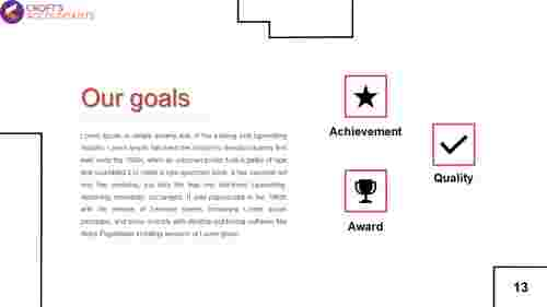 goals presentation template PPT