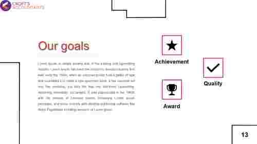 goals presentation template PPT
