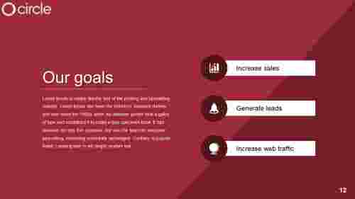 Achieve marketing goals presentation template
