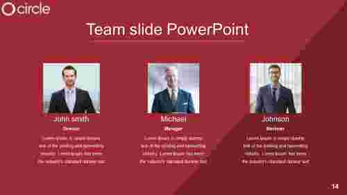 Talented team slide powerpoint